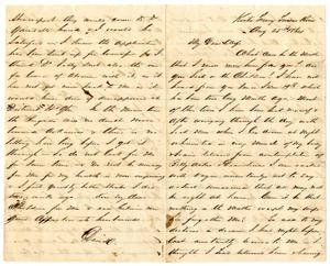 [Letter from David Fentress to his wife Clara, August 25, 1864]