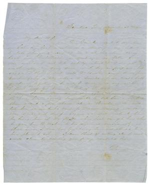 Primary view of object titled '[Letter from David Fentress to his wife Clara, December 30, 1864]'.