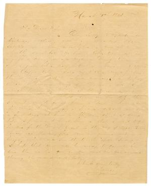 [Letter from David Fentress to his wife Clara Fentress, March 1, 1865]