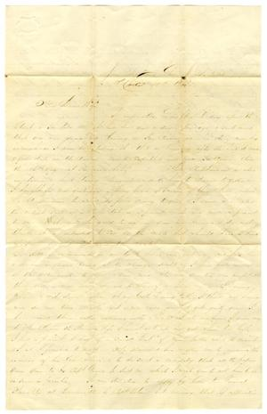Primary view of object titled '[Letter from David Fentress to Clara Fentress, April 15, 1865]'.