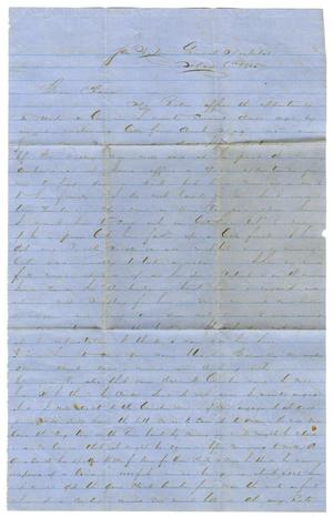 [Letter from David Fentress to Clara Fentress, May 6, 1865]