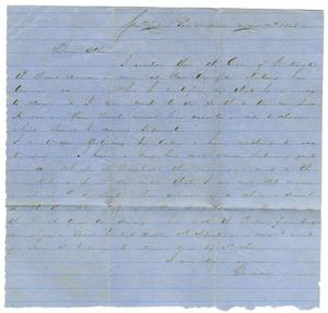 [Letter from David Fentress to his wife Clara, May 7, 1865]