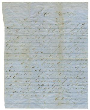 Primary view of object titled '[Letter from David Fentress to his wife Clara, May 19, 1865]'.