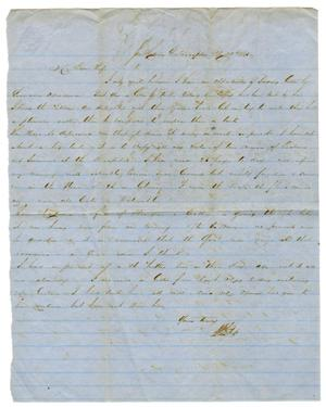 Primary view of object titled '[Letter from David Fentress to his wife Clara. May 29, 1865]'.
