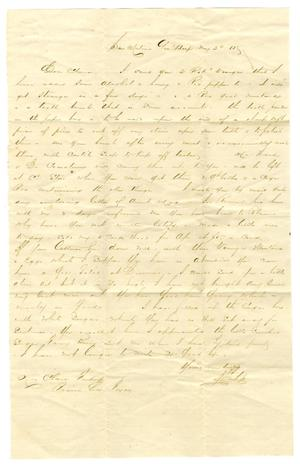 [Letter from David Fentress to his wife Clara, May 30, 1865]