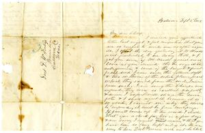 [Letter from Maud C. Fentress to David Fentress, September 1, 1858]