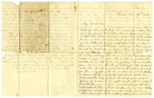 Primary view of object titled '[Letter from Maud C. Fentress to her son David W. Fentress - August 10, 1859]'.