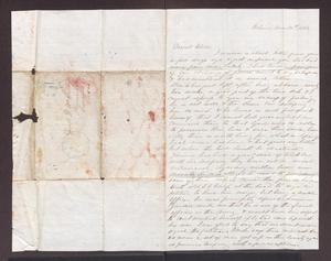 Primary view of object titled '[Letter from Maud C. Fentress to her son David - November 30, 1861]'.