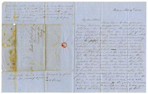 Primary view of object titled '[Letter from Maud C. Fentress to David Fentress, February 14, 1862]'.