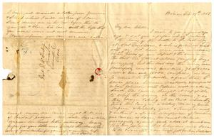 Primary view of object titled '[Letter from Maud C. Fentress to her son David - February 19, 1862]'.