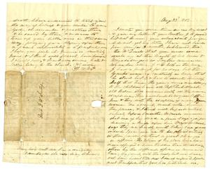 Primary view of object titled '[Letter from Maud C. Fentress to David Fentress, August 23, 1863]'.
