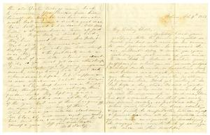 Primary view of object titled '[Letter from Maud C. Fentress to David Fentress, February 4, 1865]'.