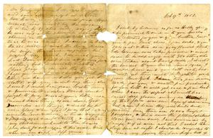 [Letter from  Maud C. Fentress to one of her sons, October 19, 1862]