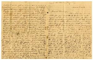 Primary view of object titled '[Letter from Maud Fentress, October 10,1863]'.