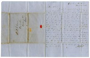[Letter from David Fentress to his wife Clara, March 31, 1862]