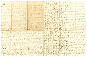 Primary view of object titled '[Letter from David Fentress to his wife Clara, August 1863]'.