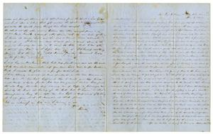 Primary view of object titled '[Letter from David Fentress to wife Clara, June 2, 1864]'.