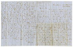 Primary view of object titled '[Letter from David Fentress to Clara, July 8,1864]'.