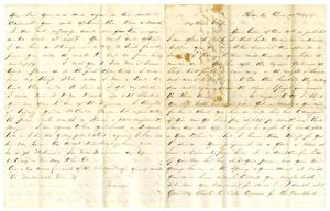 Primary view of object titled '[Letter from David Fentress to his wife Clara, December 18, 1864]'.