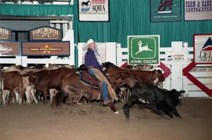 Primary view of object titled 'Cutting Horse Competition: Image 1997_D-103_08'.