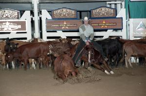 Primary view of object titled 'Cutting Horse Competition: Image 1997_D-104_24'.