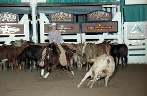 Primary view of object titled 'Cutting Horse Competition: Image 1997_D-105_32'.