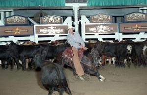 Primary view of object titled 'Cutting Horse Competition: Image 1997_D-106_25'.