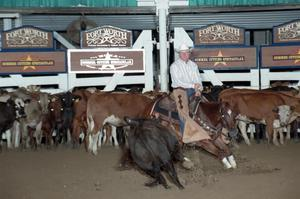 Primary view of object titled 'Cutting Horse Competition: Image 1997_D-107_25'.