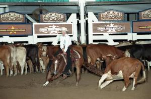 Primary view of object titled 'Cutting Horse Competition: Image 1997_D-108_31'.