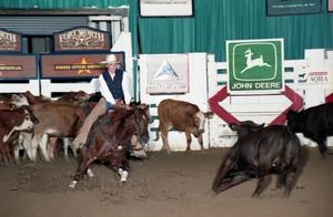 Primary view of object titled 'Cutting Horse Competition: Image 1997_D-110_16'.