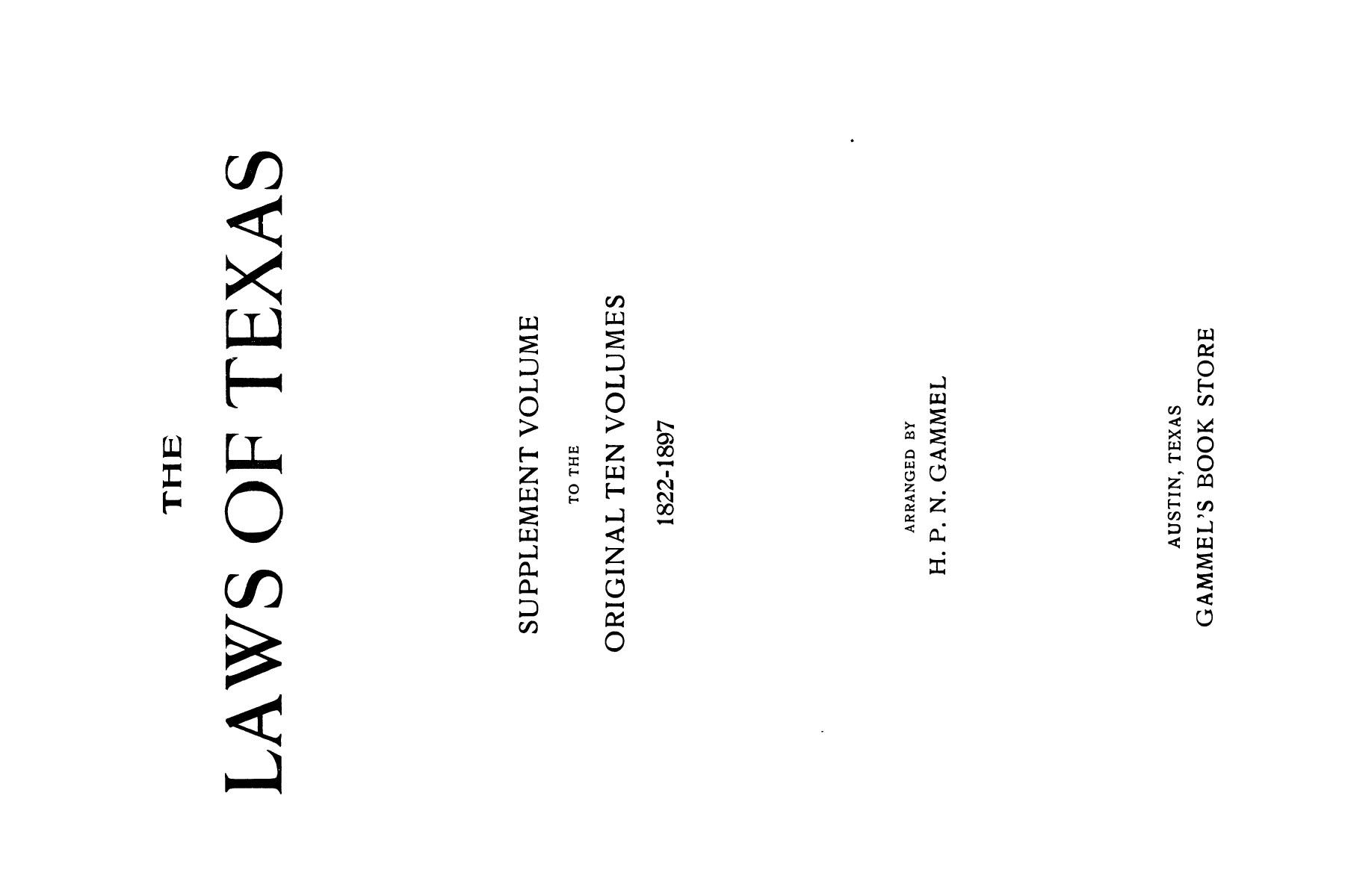 The Laws of Texas, 1926 [Volume 24]                                                                                                      [Sequence #]: 1 of 1784