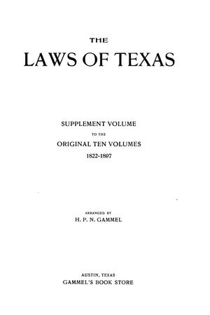 Primary view of object titled 'The Laws of Texas, 1926 [Volume 24]'.