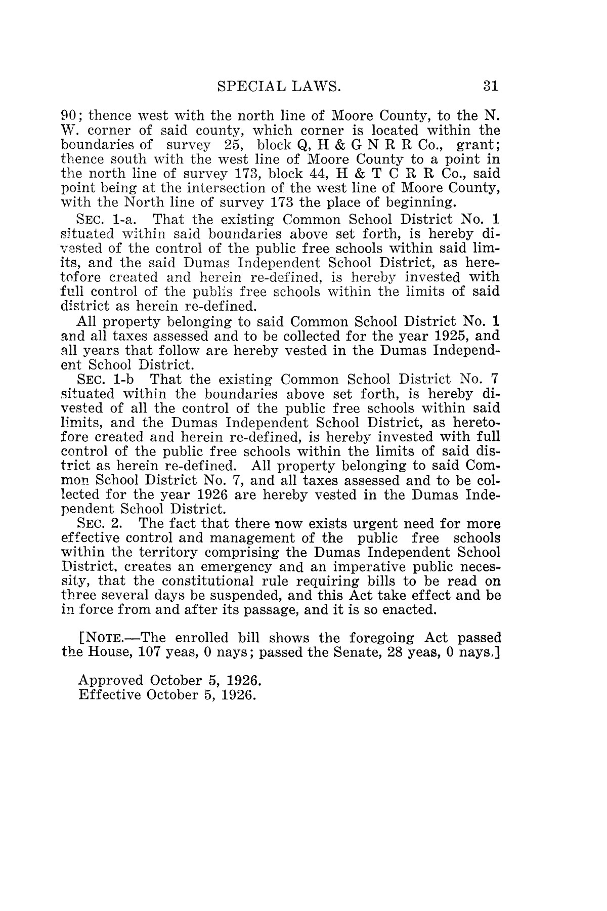 The Laws of Texas, 1926 [Volume 24]                                                                                                      [Sequence #]: 63 of 1784