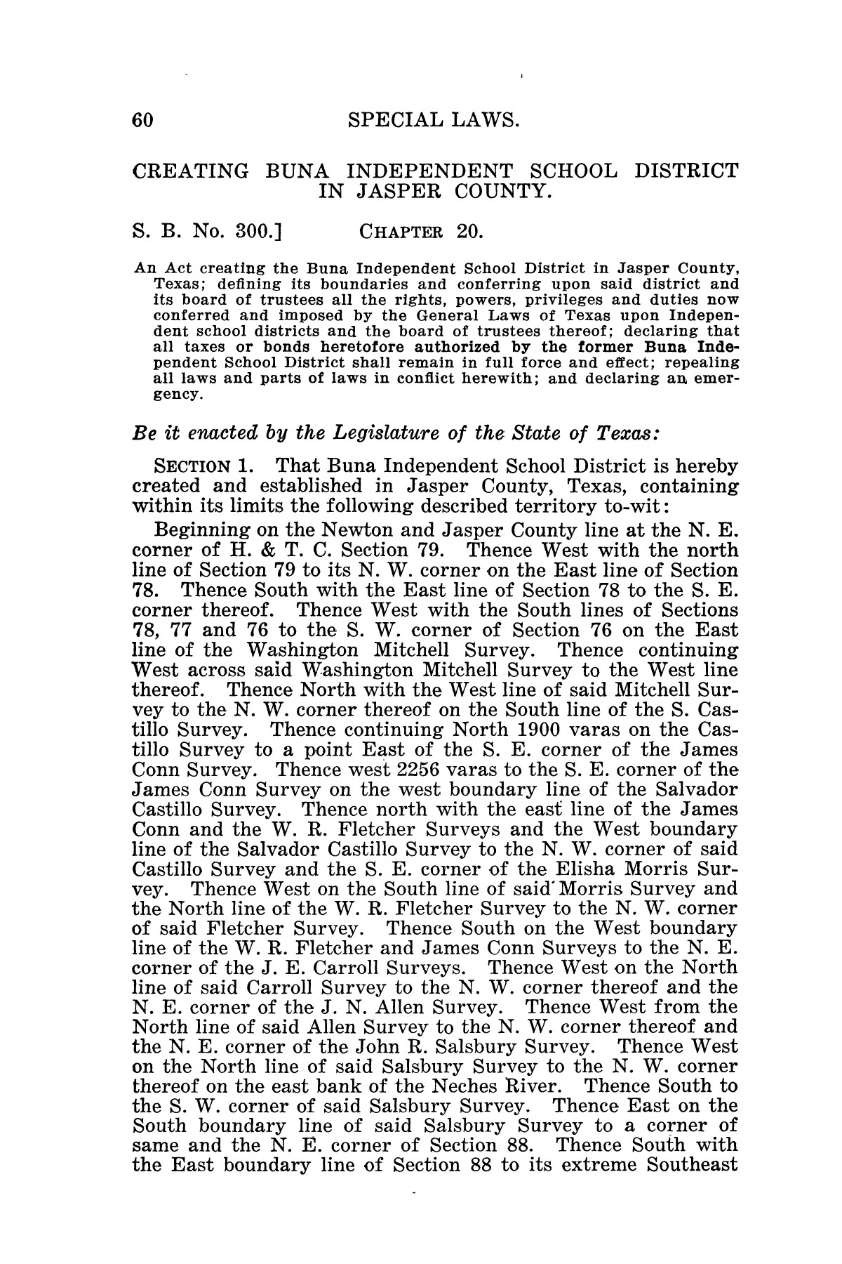 The Laws of Texas, 1926 [Volume 24]                                                                                                      [Sequence #]: 92 of 1784