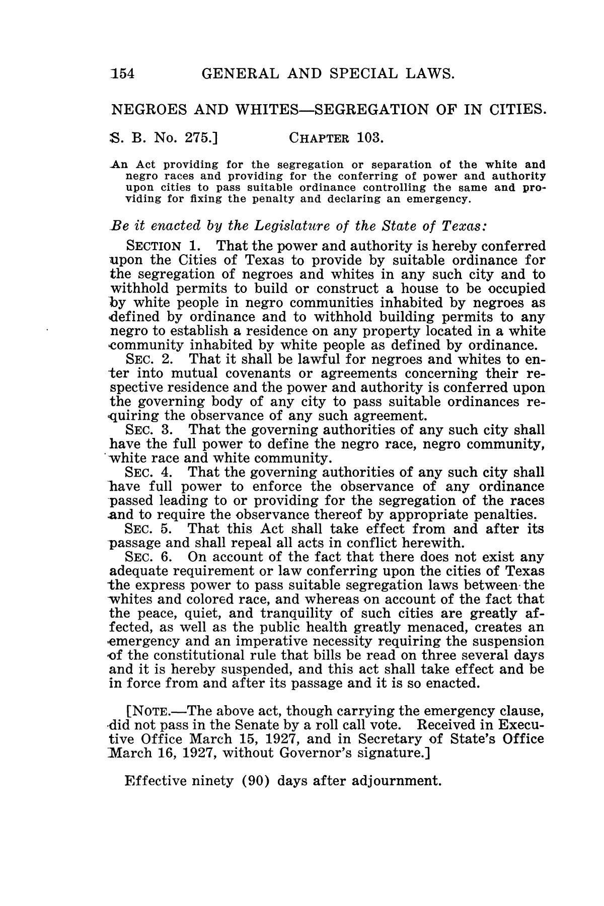 The Laws of Texas, 1927 [Volume 25]                                                                                                      [Sequence #]: 170 of 1111