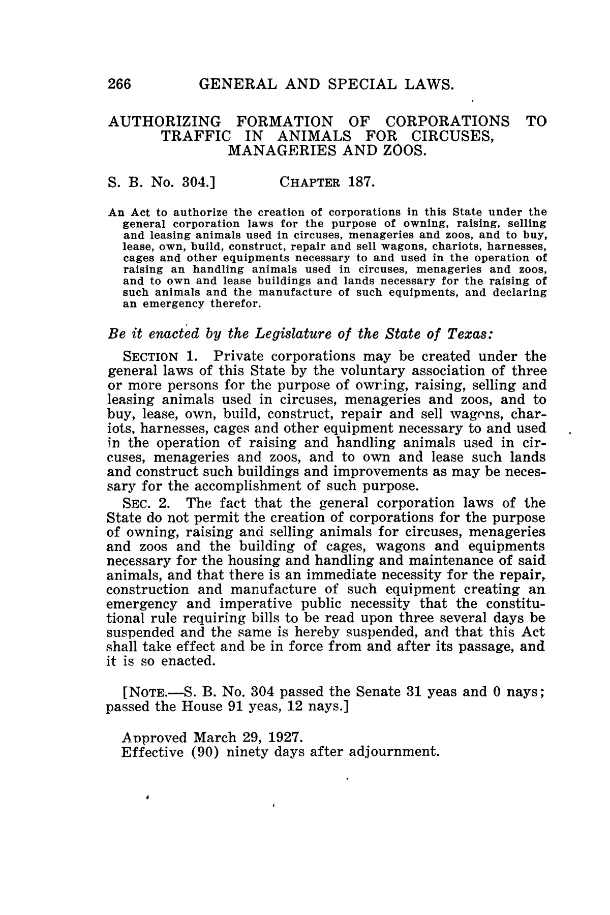 The Laws of Texas, 1927 [Volume 25]                                                                                                      [Sequence #]: 282 of 1111