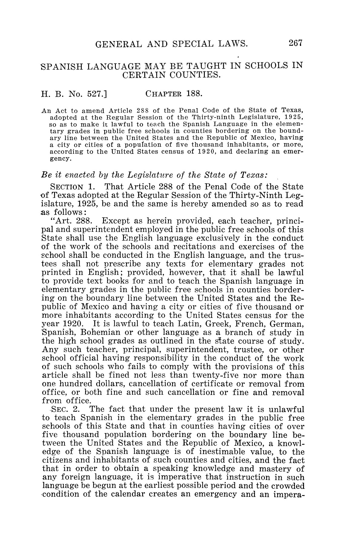 The Laws of Texas, 1927 [Volume 25]                                                                                                      [Sequence #]: 283 of 1111