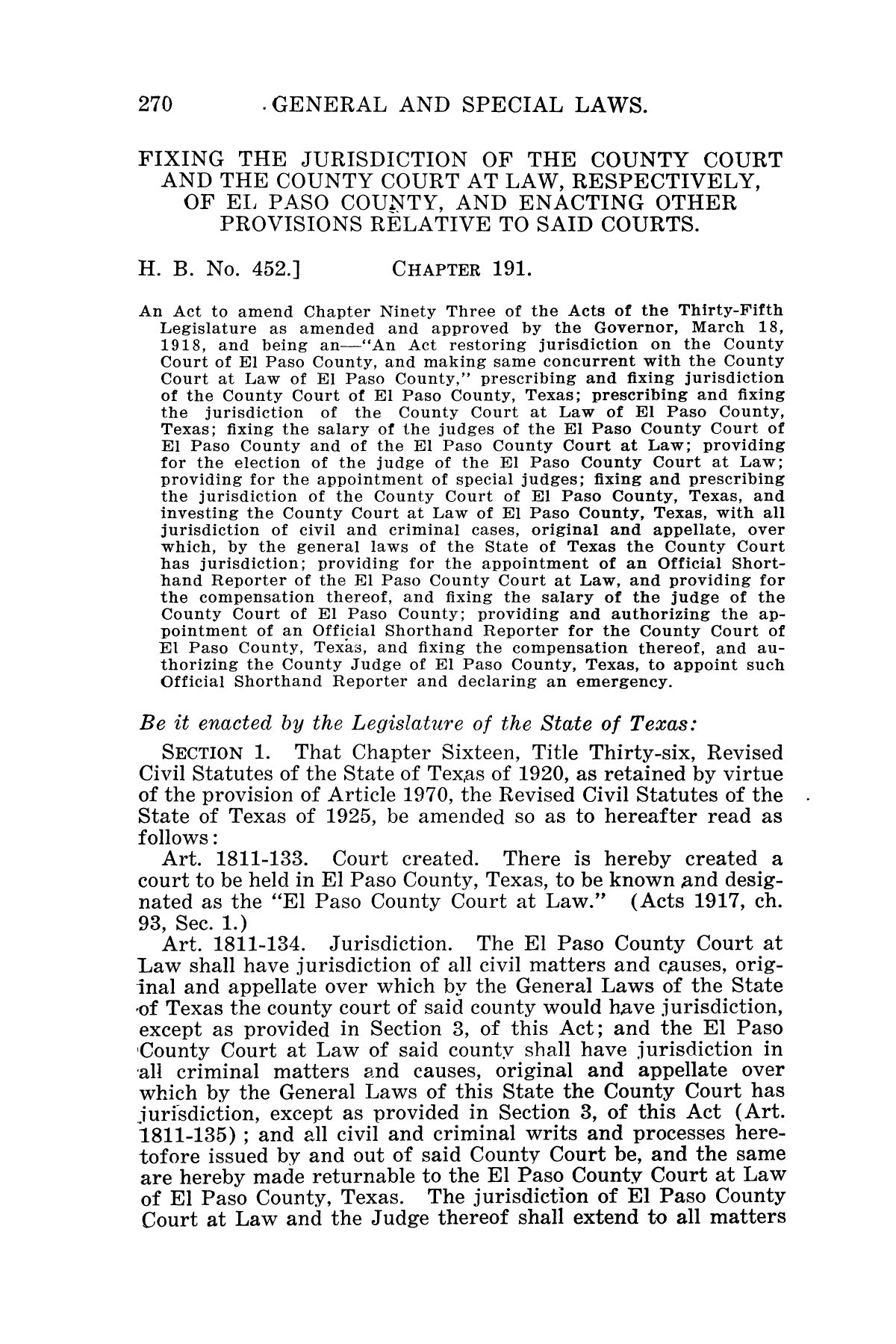 The Laws of Texas, 1927 [Volume 25]                                                                                                      [Sequence #]: 286 of 1111