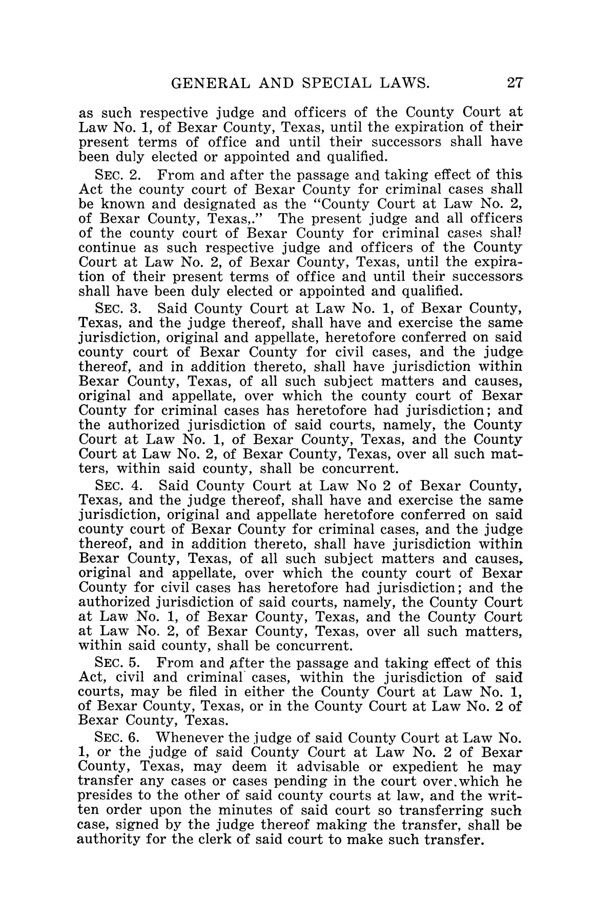 The Laws of Texas, 1927 [Volume 25]                                                                                                      [Sequence #]: 43 of 1111