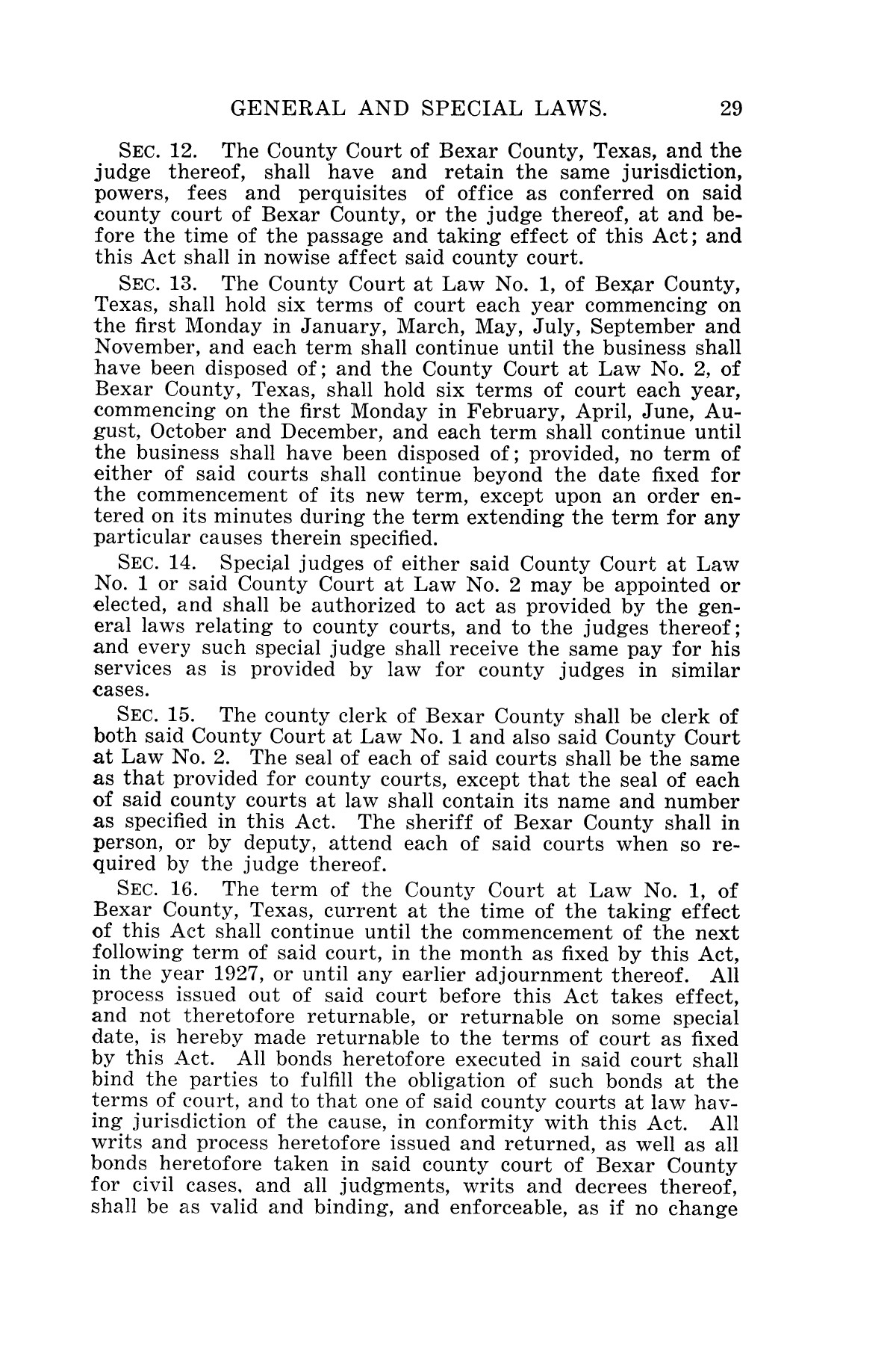 The Laws of Texas, 1927 [Volume 25]                                                                                                      [Sequence #]: 45 of 1111
