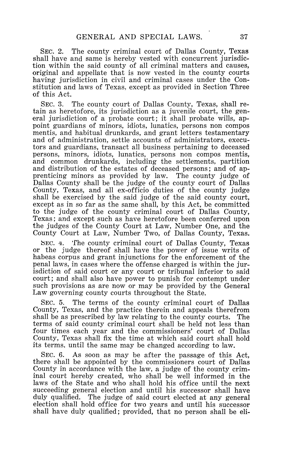 The Laws of Texas, 1927 [Volume 25]                                                                                                      [Sequence #]: 53 of 1111