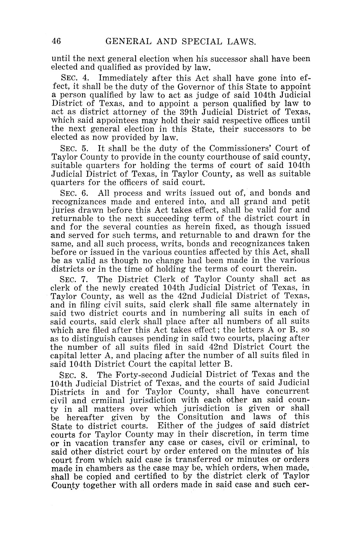 The Laws of Texas, 1927 [Volume 25]                                                                                                      [Sequence #]: 62 of 1111