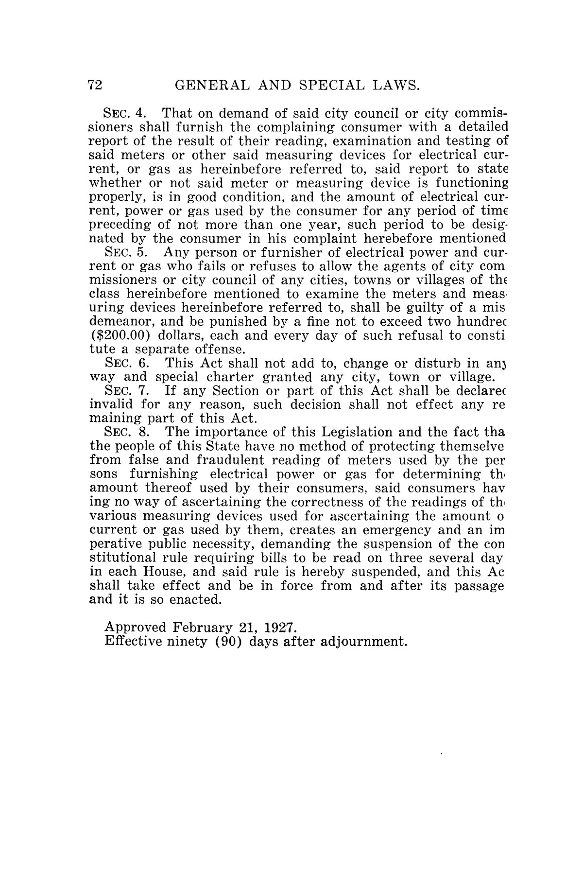 The Laws of Texas, 1927 [Volume 25]                                                                                                      [Sequence #]: 88 of 1111