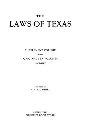 The Laws of Texas, 1927 [Volume 25]