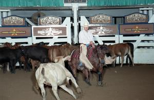 Primary view of object titled 'Cutting Horse Competition: Image 1997_D-125_03'.