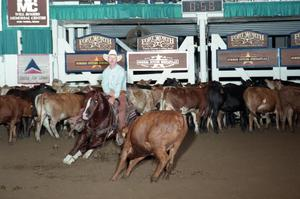 Primary view of object titled 'Cutting Horse Competition: Image 1997_D-126_25'.