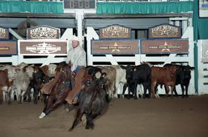 Primary view of object titled 'Cutting Horse Competition: Image 1997_D-128_04'.