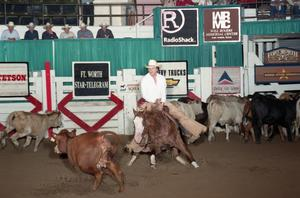 Primary view of object titled 'Cutting Horse Competition: Image 1997_D-128_05'.