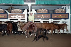 Primary view of object titled 'Cutting Horse Competition: Image 1997_D-131_03'.