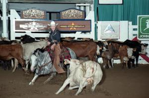 Primary view of object titled 'Cutting Horse Competition: Image 1997_D-132_06'.
